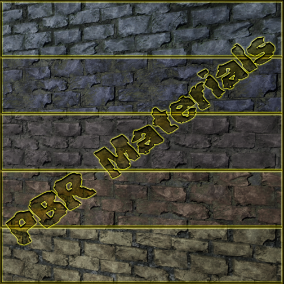 PBR material with high resolution (4096x4096): Stone Wall meterials consisting of 20 units.
