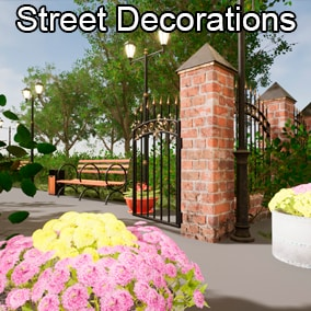 Street decoration props