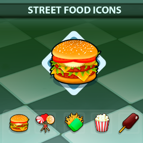 A set of 119 hand drawn Street Food Icons.