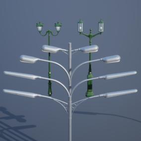 Various street light models with easy to tweak materials.