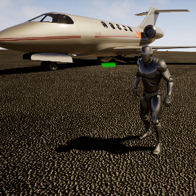 Strelitzia is a custom business jet with character interaction which you can use it in your projects.