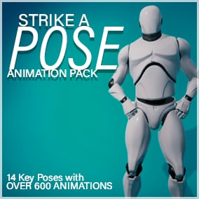 14 key poses with over 600 animations