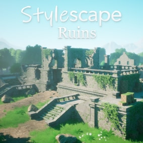 Fully modular stylized ruins kit, including BP presets, decorative ivy, and biome based materials, all utilizing trim sheets for greater peformance.