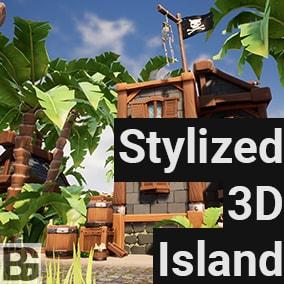 Stylized 3D Island