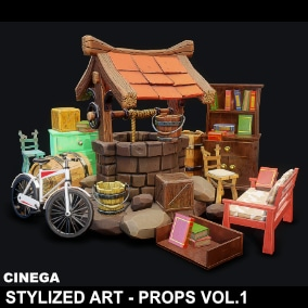 Cinega Interactive presents Stylized Art - Props Vol.1
