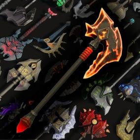 30 Stylized Axes - Fantasy