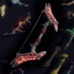15 Stylized Bows & Crossbows - Fantasy