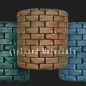 A pack of stylized Brick and Stone wall materials