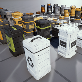 This set of game-ready containers is perfect for desktop, console, or mobile. This set includes 8 separate containers with custom collision, LODs, and heavily customizable materials built off of a single master material.