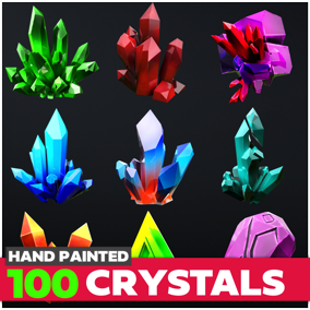 Stylized Crystal Collection includes over 90 different crystal models.