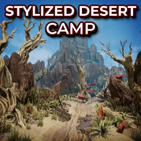 Create your own Fantasty Arid environment with over 90 Desert Meshes!