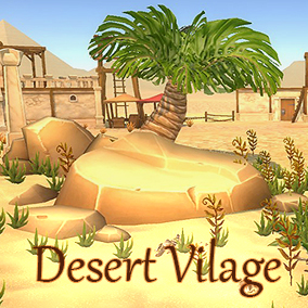 Stylized Desert Vilage colorful package is suitable for use in top down, side scroller game.