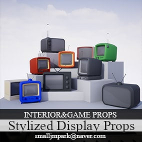 Stylized Display Monitor Props v.01