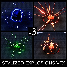 The FX pack contains powerful game-ready stylized explosion effects (made in cascade particle editor). Take a look at the video presentation for more details.