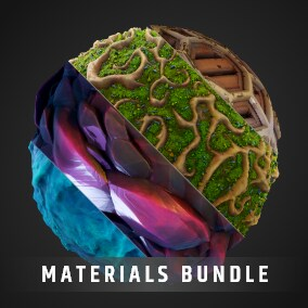Stylized Material Bundle of 48 materials for your RPG, MOBA, or MMO