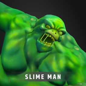 Stylized Fantasy RPG character/creature with skin, noise material customization including HueShift node and Morph target node for your RPG, MOBA, or MMO