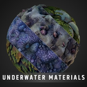 Stylized Landscape Material Pack with Automatic Landscape texturing for your RPG, MOBA, or MMO.