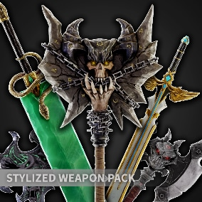 Stylized fantasy weapon pack