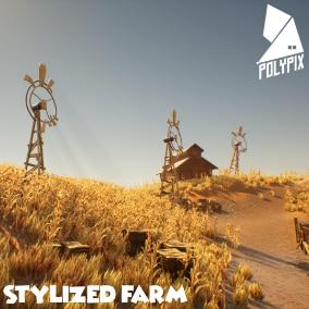 A stylized farm environment ready for ur next mini game!