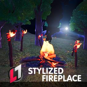 Stylized Fireplace - Pro Link Edition