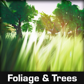Stylized Foliage And Trees