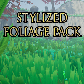 Pack of stylized foliage assets to kickstart your game level