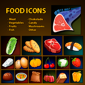 Set of 164 hand drawn food icons