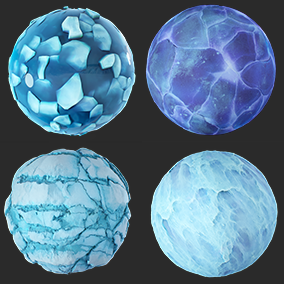 9 PBR Frosty materials