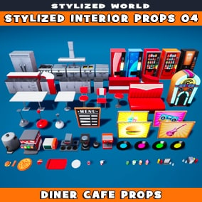 Stylized Interior Props 04
