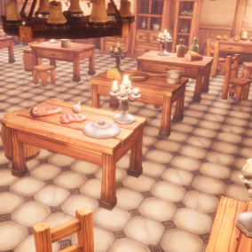 85 stylized props and parts for the kitchen.