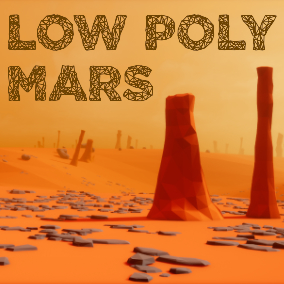 Mars assets in a simple low poly style.