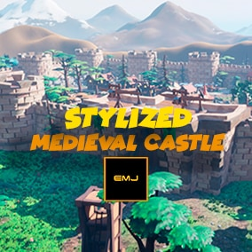 With this pack you can build a stylized medieval castle. Includes houses, handguns, medieval assault weapons, and camp.