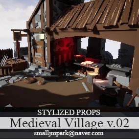 Stylized Medieval Village v.02
