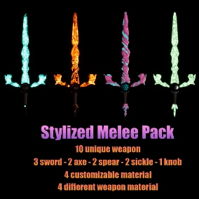 A pack consisting of highly configurable set of melee weapons.