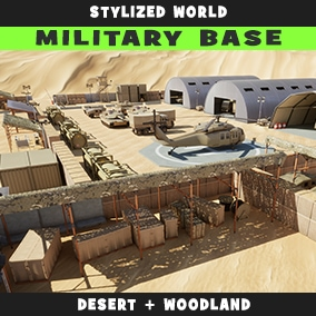 Stylized Desert+Woodland Military camp