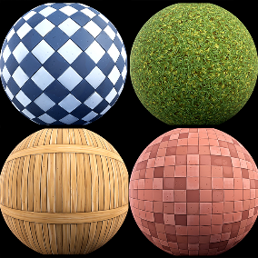 """Stylized Mix Pack"" Package of 20 stylized materials"
