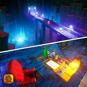 Stylized Modular Dungeon Pack Vol.2 contains modular assets to create different dungeon environments.