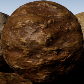 PBR material with high resolution (2048x2048): Stylized mud meterials consisting of 40 units.