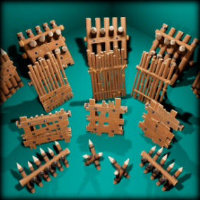 Pack contains 16 unique stylized barricade models. Suitable for PC/Console/Mobile