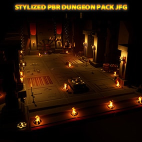 Stylized PBR Dungeon Pack JFG, plenty of props and variety for your scenes/levels/games