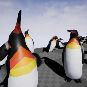 Low-Poly Penguin with Animations