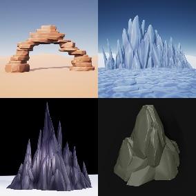 200 Stylized Rocks