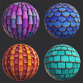 8 PBR stylized roof materials