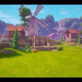 Stylized Ruined Village