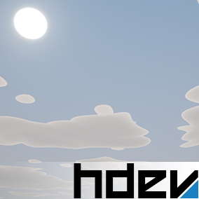 A simple drag and drop stylized sky solution