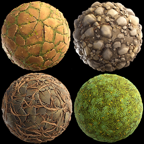 """Stylized Terrain vol.2"" Pack of 24 Materials"