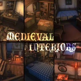 Highly modular stylized medieval interior kit