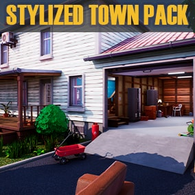 Stylized pack of models and textures for creating houses and the environment. Contains assets for creating houses, interiors, roads and surroundings.