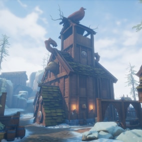 Create your own viking fortress, town, or city with this pack of stylized fantasy viking inspired assets!