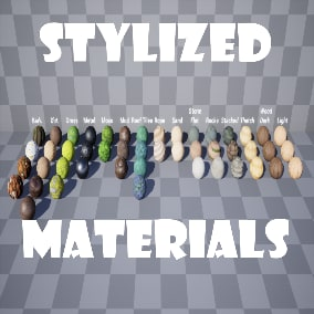 A Set of Materials that can be used for any stylized village or environment, With full substance customization.